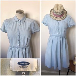 ON chambray short sleeve shirt dress